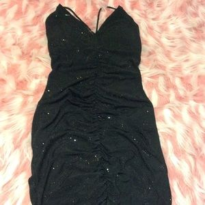 Black runched dress